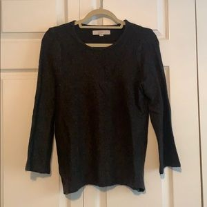 Loft charcoal grey sweater